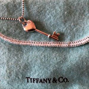 Tiffany heart key necklace